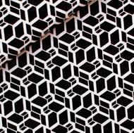 Afbeelding van Skew Cube - M - Zwart & Wit