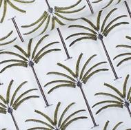 Afbeelding van Palms - Cotton Lawn - Gebroken Wit