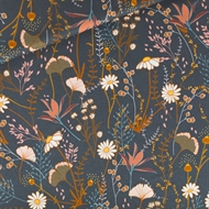 Picture of Flower Field - M - Cotton Gabardine Twill - Night Blue