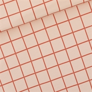 Picture of Grid - L - French Terry - Evening Pink